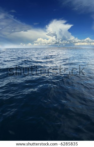 Stormy sea clouds - stock photo