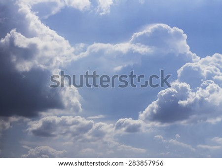 Stormy sky and clouds - stock photo