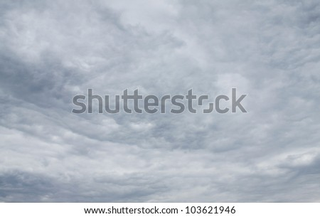 Stormy sky dark as natural background - stock photo