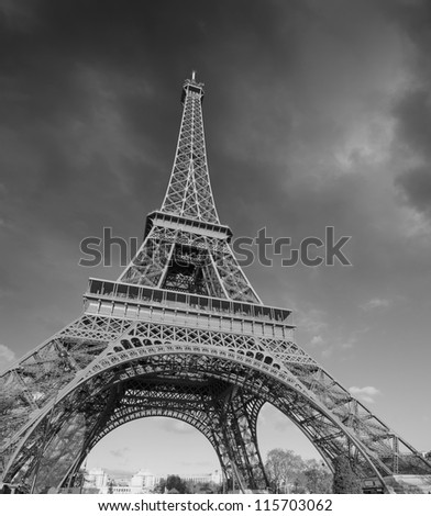Stormy Weather over Eiffel Tower in Paris