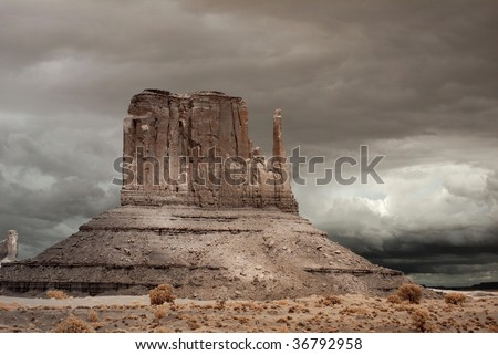 Stormy weather over Monument Valley in Arizona