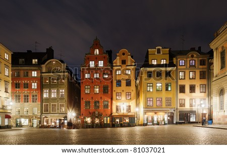 Stortorget (The Big Square) at Chritmas time, Stockholm, Sweden - stock photo