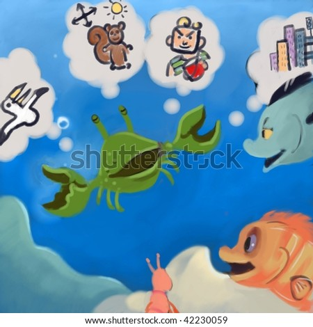 story telling (search the word nikos for more) - stock photo