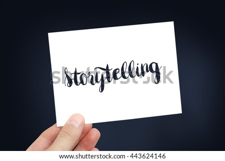 Storytelling concept - stock photo