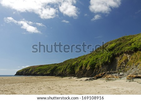 Stradbally beach in Waterford in Ireland Europe - stock photo