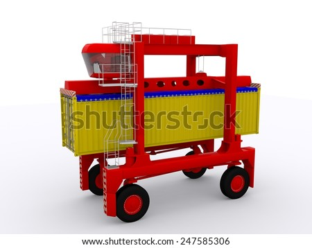 straddle carrier and open top container