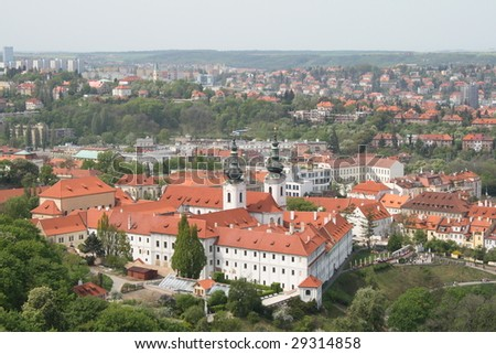 Strahov library theological hall in Prague - stock photo