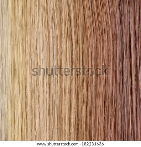 Straight Hair Palette. Hair Care. Hair Salon. Gradient Background.  - stock photo