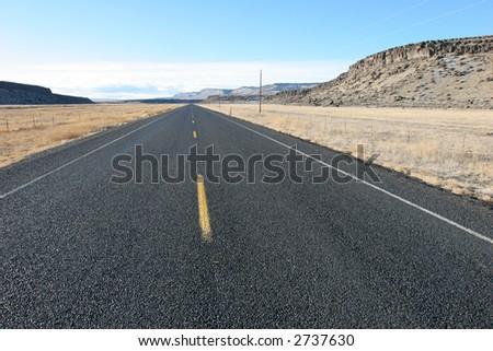 Straight Highway - stock photo