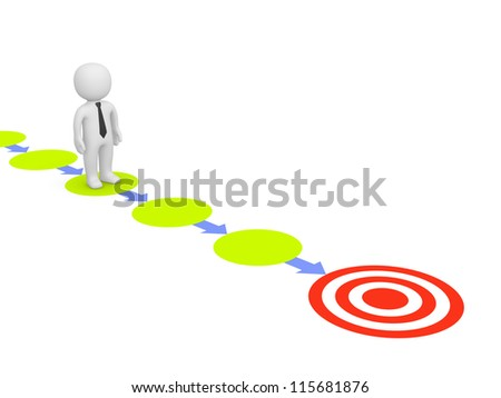 Straight way to target - stock photo