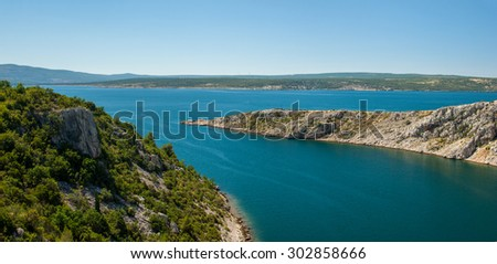 Strait of Maslenica, Croatia.