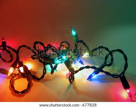 strand of colorful christmas lights - Amber Christmas Lights