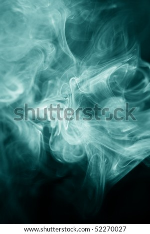 strangely shaped puff of smoke on black