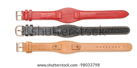 Strap On A Wristwatch isolated on white