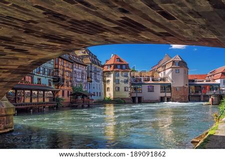 "Strasbourg. District ""little France"" France.Europe. - stock photo"