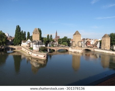Strasbourg, France - heritage town - stock photo