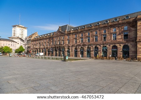STRASBOURG, FRANCE - JUL 23, 2015: Building of the former Guardhouse (1778), today Conservatory  on Kleber Square