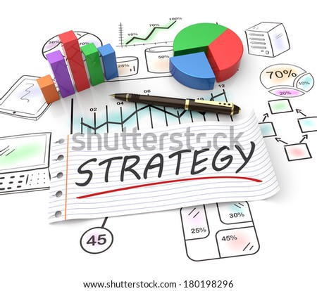 Strategy and management as a concept - stock photo