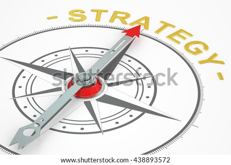 Strategy compass concept, 3D rendering - stock photo