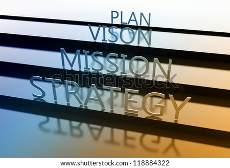 Strategy concept with many other related business words