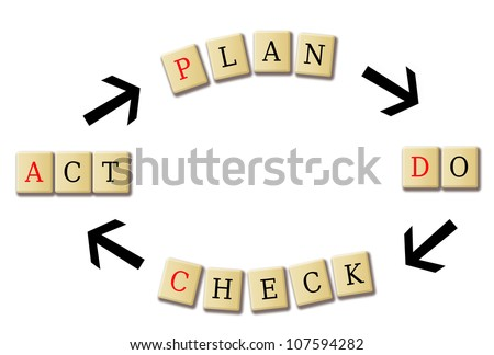 strategy for business in a wood tile illustration - stock photo