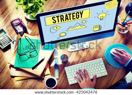 Strategy Innovation Solution Objective Idea Concept - stock photo