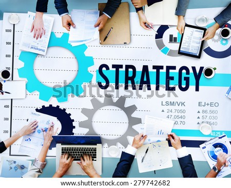 Strategy Process Solution Strategic Vision Concept - stock photo