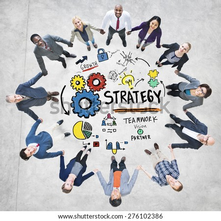 Strategy Solution Tactics Teamwork Growth Vision Concept - stock photo