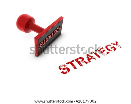 strategy stamp - 3D illustration - stock photo