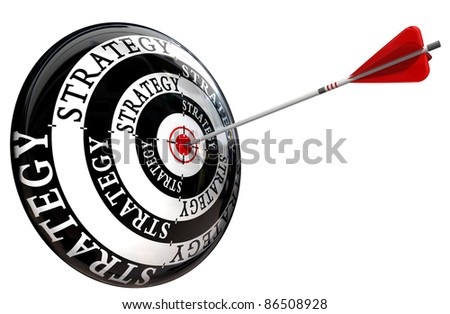 strategy target conceptual image isolated on white background
