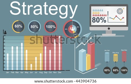 Strategy Target Vision Mission Marketing Concept - stock photo