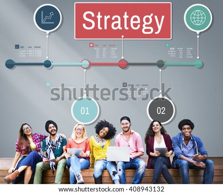 Strategy Vision Planning Process Operation Concept - stock photo