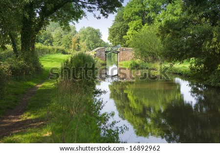 Stratford upon avon canal, Preston Bagot Warwickshire, Midlands England UK. - stock photo