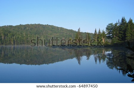 Stratton Pond in Vermont - stock photo
