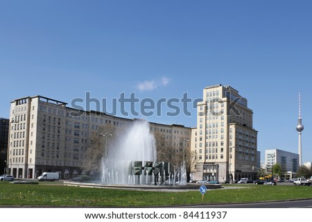 Strausberger Square - stock photo
