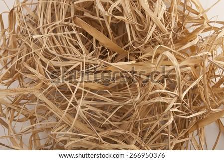straw background - stock photo