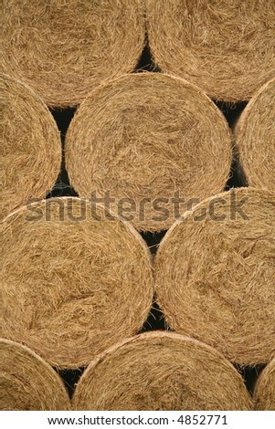 straw bale background - stock photo