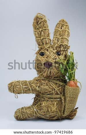straw eastern bunny - stock photo