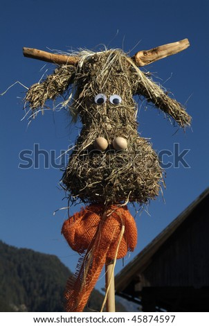 straw figures in Austria