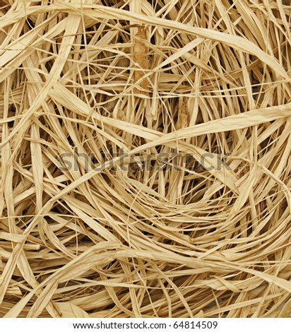 straw for craft projects - stock photo