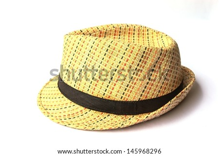 straw hat isolate on white background