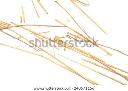 straw isolated on white - stock photo