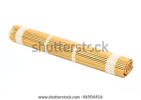 Straw mat isolated on white background
