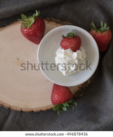 Strawberries and Whip Cream