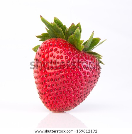 strawberries. Fresh strawberries on a background - stock photo