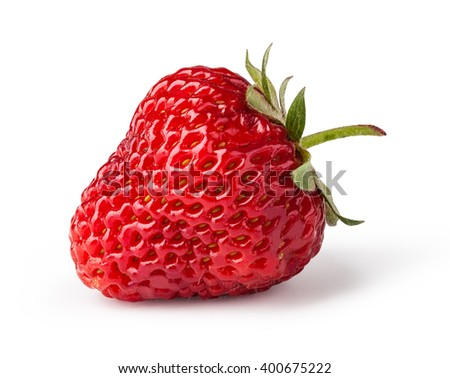 Strawberries. Isolated on a white background.
