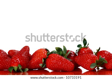 Strawberries  on white background - stock photo