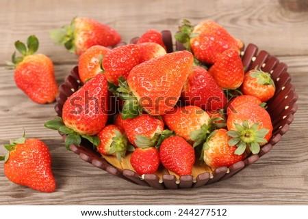 Strawberries with  - stock photo