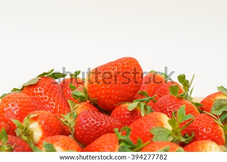 Strawberries with bright background.
