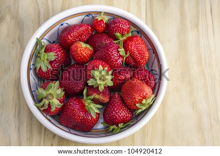 Strawberries with great colors and amazing light